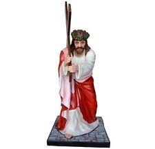 Jesus fall fiberglass statue cm. 127