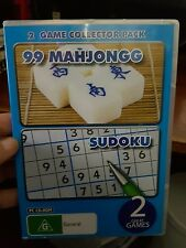 2 Game Collector Pack - 99 Mahjongg - Sudoku - PC GAME - FREE POST