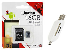 Genuine OTG T05 Memory Card Reader + KINGSTON 16GB MICRO SD SDHC CLASS10 80 MB/s