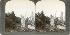 REALISTIC TRAVEL BRITISH WWI STEREOVIEW HUN ENTRENCHMENTS TRONE WOODS ASSAULT