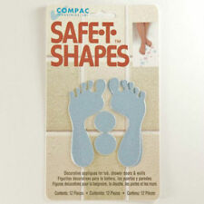 Safe-T-Shapes Blue Feet Non-Slip Safety Applique Stickers - Bath, Tub & Shower