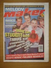 MELODY MAKER 1999 OCT 2 TRAVIS MANICS SUPERGRASS BLUR