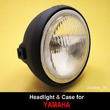 Yamaha DT80 GT80 Headlight Light Lamp 6 V. + Rim Trim Ring + Black Bucket Case