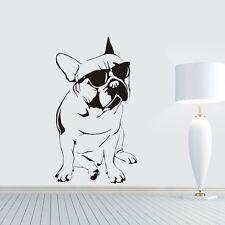 Mops Sonnenbrille Wandtattoo Wallpaper Wand Schmuck 42 x 75 cm