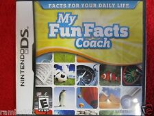 My Fun Facts Coach  (Nintendo DS DSI 2DS 3DS NDS XL) educational video game kids