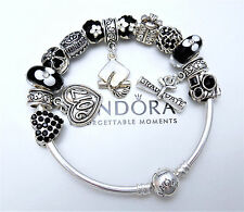 Authentic Pandora Silver Bangle Bracelet Graduation 2017 Diploma European Charms