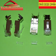 2x RJ45 conetores para cable de red categoria 6 categoria 7 cat6 cat7 blindados