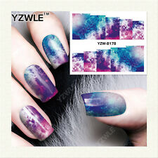 YZW-8178 FULL NAIL ART STICKERS DIY WATER TRANSFER WRAPS MANICURE DECAL GALAXY