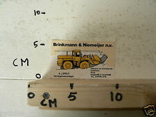 STICKER,DECAL BRINKMANN & NIEMEIJER NB IJSSELSTEIN SHOVEL