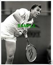 ORIGINAL SPORTS PRESS PHOTO - TENNIS STAR IVAN LENDL IN ACTION - 1980'S