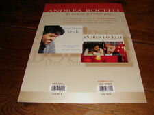 ANDREA BOCELLI VERDI!!!!!!!!!!!!!!RARE FRENCH PRESS/KIT