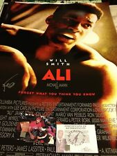 AUTOGRAPHED JAIME FOXX ALI MOVIE POSTER FULL SIZE PIC AND CERT ASI MUHAMMAD ALI