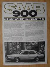 SAAB 900 RANGE 1978-79 UK Mkt Pre Launch Sales Brochure - inc Turbo