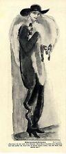 Karl Arnold Aschermittwoch- Gedanken Karikatur Historischer Kunstdruck 1915