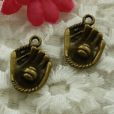 free ship 105 pieces bronze plated hand charms 21x15mm #2536