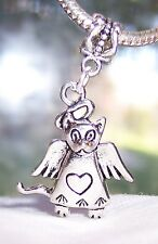 Angel Cat Loss of Pet Rememberance Gift Dangle Bead for European Charm Bracelets