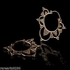 New Tribal Brass Hoop Earring Gold Vintage Gypsy Fashion Jewelry Women Handmade