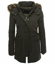 Damen Warmer Wintermantel Winter Stepp Mantel Jacke Lang Parka Kunstpelz Gr. M