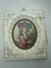 ANTIQUE SIGNED GAINSBOROUGH H/ PAINTED MINIATURE PORTRAIT DUCHESS OF DEVONSHIRE
