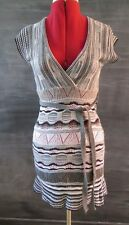 VINTAGE Designer 70's style Rib knitted Beach Dress top tunic dress striped S