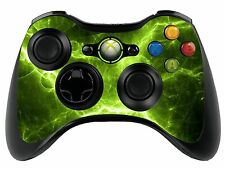 GREEN ELECTRIC XBOX 360 REMOTE CONTROLLER / Gamepad Pelle / coperchio / VINILE xbr27