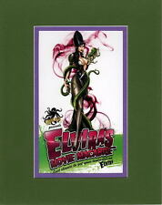ELVIRA'S MOVIE MACABRE PRINT PROFESSIONALLY MATTED Jamie Tyndall