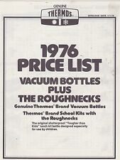#MISC-0236 - 1976 THERMOS vacuum bottle and lunch box CATALOG price list