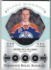 16-17 Upper Deck Black Diamond Relic Rookies Triple Diamond Jesse Puljujarvi /99