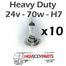 10x H7 24V Headlight Headlamp Bulbs 70W for Commercial Vehicles