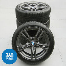 "GENUINE BMW 3 4 SERIES 18"" 400 M SPORT GREY ALLOY WHEELS NEW HANKOOK WINTER"