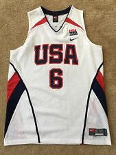 TEAM USA BASKETBALL #6 LEBRON JAMES NIKE 2006 FIBA JERSEY Sz L