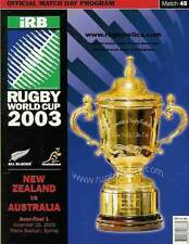 AUSTRALIA v NEW ZEALAND 2003 RUGBY WORLD CUP SEMI-FINAL PROGRAMME