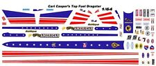 CARL CASPER's Young American Top Fuel Dragster 1/64 - HO Scale Slot Car Decals N