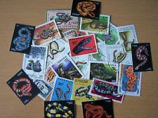 25 DIFFERENT SNAKES ON STAMPS.EXCELLENT.