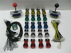 Arcade MAME 2 playr USB BUNDLE KIT 20 led push button red & blk ball ls joystick