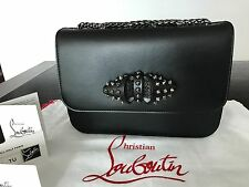 Christian Louboutin Black Sweet Charity Small Shoulder Cross Body Bag NWT