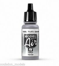 Vallejo Model Air Gun Metal (Metallic) 71.072 - 17ml Acrylic Airbrush Paint