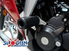 Honda 2011-14 CBR250R CBR 250R Shogun Frame Sliders NO CUT Black