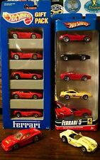 1993 & 2008 Hot Wheels 5 Ferrari Gift Packs NIP VHTF + 2 loose Ferraris
