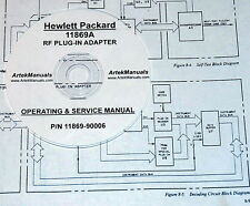 HP Hewlett Packard 11869A RF Plug-In Adapter: Operating & Service Manual
