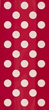 RED POLKA DOTS - 20 Cellophane Bags -  (25cm x 13cm) - Spots Birthday Party