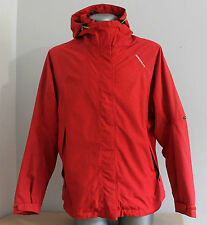 Womens DIDRIKSONS 1913 MICROTECH-PRO Jacket Hooded Red Waterproof Breathable 44