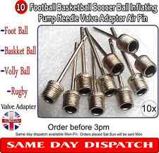 10 X Football Basketball Soccer Ball Inflating Pump Needle Valve Adaptor Air Pin
