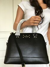 NWT KATE SPADE Wellesley Small Rachelle Black Leather Satchel Crossbody Bag