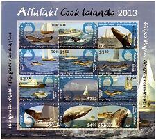 Aitutaki - Postfris / MNH - Sheet Whales and Dolphins 2013