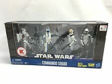 Star Wars The Clone Wars K-Mart Exclusive Action Figure Set - COMMANDO SQUAD NEW