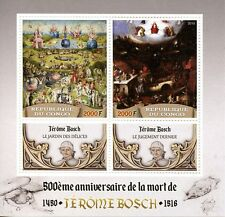Congo 2016 MNH Hieronymus Bosch 500th Memorial Anniv 2v M/S Art Paintings Stamps