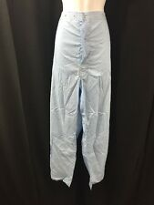 ONE NEW PAIR UNICOR Mens Trousers Pajama Pants Snap Button Blue Large