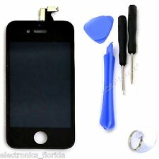 LCD Digitizer Glass Black Touch Screen Replacement Assembly for iphone 4 GSM