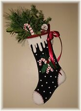 PATTERN~*Candy Cane Christmas*~Snowman~Holly~Christmas Stocking PATTERN